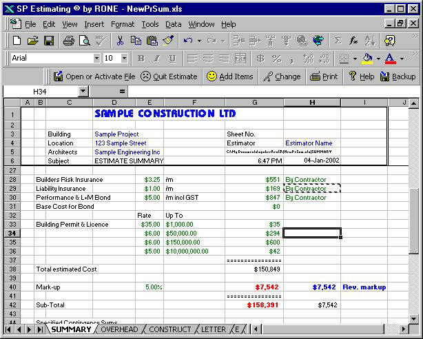 Construction Estimating Civil Construction Estimating